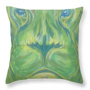 Reflections In The Lions Eyes Throw Pillow
