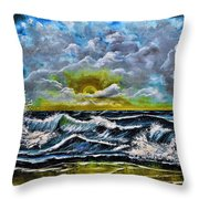 Reflections In The Sand Throw Pillow
