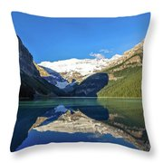 Reflections In The Water At Lake Louise, Canada Throw Pillow