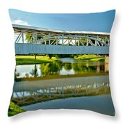 Reflections In Yellow Creek Throw Pillow
