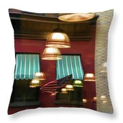 Reflections Light Buildings  Throw Pillow