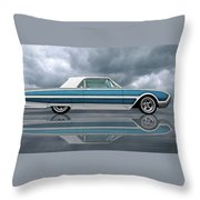 Reflections Of A 1961 Thunderbird Throw Pillow
