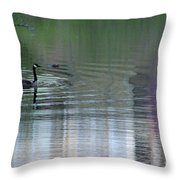 Reflections Of A Canada Goose Throw Pillow