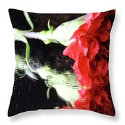 Reflections Of A Carnation Throw Pillow