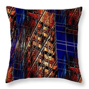 Reflections Of A City 3 Throw Pillow