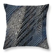 Reflections Of A City 4 Throw Pillow
