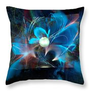 Reflections Of A Flower In The Moonlight Throw Pillow
