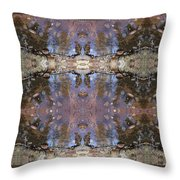 Reflections Of A Hiker Throw Pillow