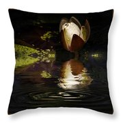 Reflections Of A Lily Throw Pillow