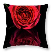 Reflections Of A Red Rose Throw Pillow