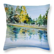 Reflections Of A Stroll Throw Pillow
