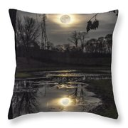 Reflections Of A Super Moon Throw Pillow