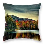 Reflections Of Autumn On West Lake Throw Pillow