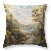 Reflections Of Calm  Throw Pillow