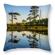 Reflections Of Dawn Throw Pillow