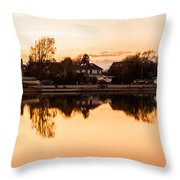 Reflections Of Emsworth Throw Pillow by Trevor Wintle