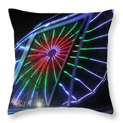 Reflections Of Ferris Throw Pillow