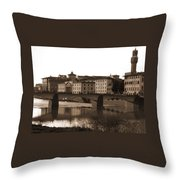 Reflections Of Florence Throw Pillow