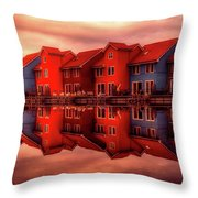 Reflections Of Groningen Throw Pillow