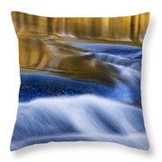 Reflections  Of Linville River Throw Pillow by Ken Barrett