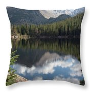 Reflections Of Majestic Mountains Throw Pillow