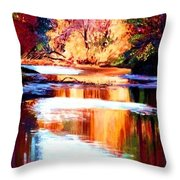 Reflections Of October Throw Pillow