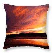Reflections Of Red Sky Throw Pillow