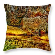 Reflections Of Rock Throw Pillow