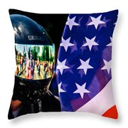 Reflections Of Rolling Thunder Throw Pillow