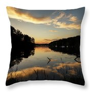 Reflections Of Sailboat Cove Throw Pillow