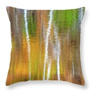Reflections Of The Canadian Fall Throw Pillow