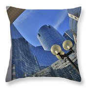 Reflections Of The Future Throw Pillow