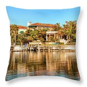 Reflections Of The Rich And Famous Throw Pillow