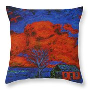 Reflections Of The Storm Throw Pillow