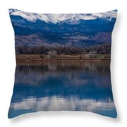 Reflections Of The Twin Peaks Throw Pillow