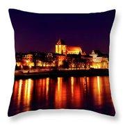 Reflections Of Torun Throw Pillow