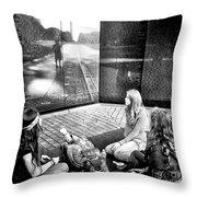 Reflections Of War Throw Pillow