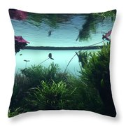 Reflections Of Waterlii Throw Pillow