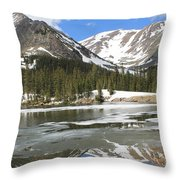 Reflections On Chinns Lake 5 Throw Pillow