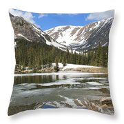 Reflections On Chinns Lake 6 Throw Pillow