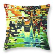 Reflections On Color Throw Pillow