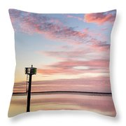 Reflections On Falling Dusk Throw Pillow