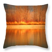 Reflections On Fire Throw Pillow