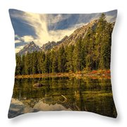 Reflections On Jenny Lake Throw Pillow
