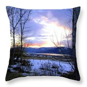 Reflections On Lake Okanagan Throw Pillow