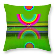 Reflections On Lime Throw Pillow