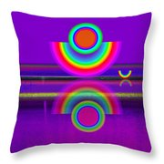 Reflections On Mauve Throw Pillow