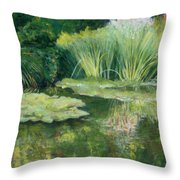 Reflections On Monets Lily Pond Throw Pillow