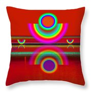 Reflections On Red Throw Pillow