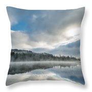 Reflections On Reflection Lake 5 Throw Pillow